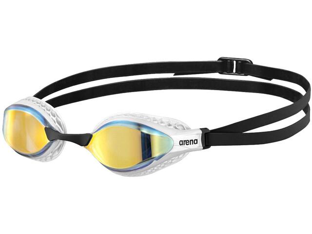 arena Airspeed Mirror Gafas Natación, negro/blanco